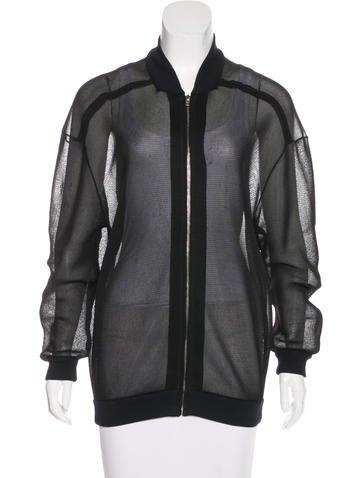 Stella McCartney Mesh Zip-Up Jacket None