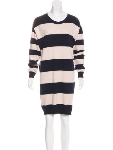 Stella McCartney Silk & Cashmere-Blend Long Sleeve Dress w/ Tags None