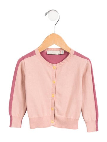 Stella McCartney Girls' Colorblock Long Sleeve Cardigan None