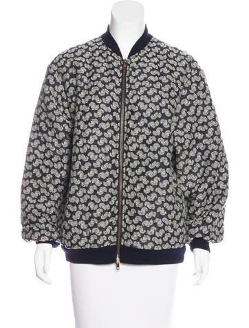 Stella McCartney Jacquard Eleanor Bomber Jacket None