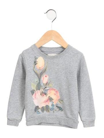 Stella McCartney Girls' Knit Floral Sweatshirt None