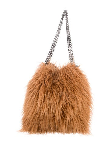 Stella McCartney Falabella Faux Fur Small Tote None