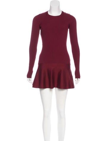 Stella McCartney Rib Knit Flared Dress None