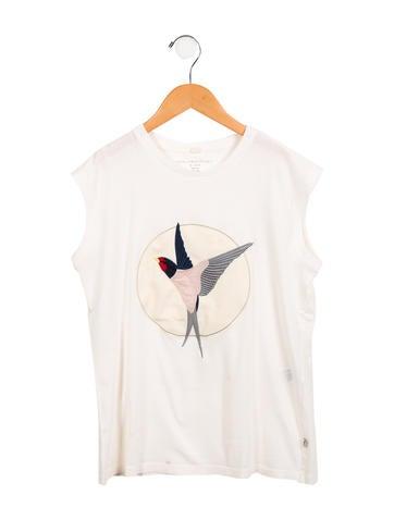 Stella McCartney Girls' Embroidered Sleeveless Top None