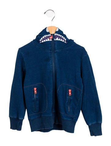 Stella McCartney Boys' Hooded Zip-Up Sweatshirt None