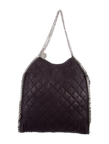 Stella McCartney Large Quilted Falabella Tote None