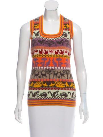Stella McCartney Sleeveless Wool Sweater None