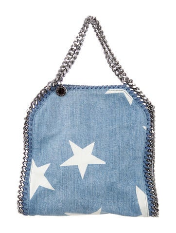 Stella McCartney Falabella Denim Star Small Tote None