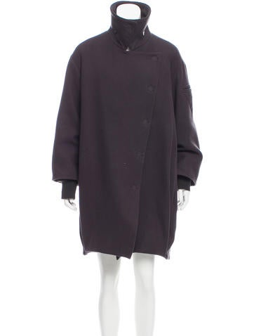 Stella McCartney Wool Double-Breasted Coat None