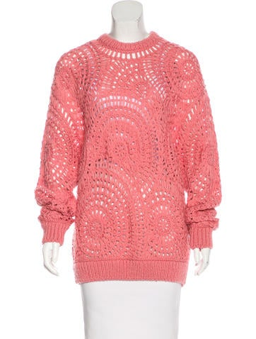 Stella McCartney Crochet Knit Wool Sweater None