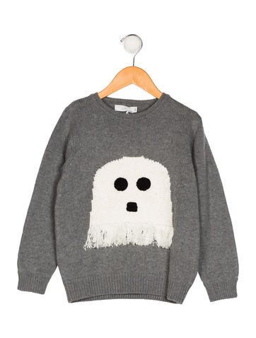 Stella McCartney Girls' Ghost Intarsia Sweater w/ Tags None