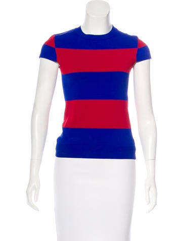 Stella McCartney Short Sleeve Knit Top None