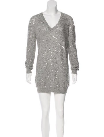 Stella McCartney Sequined Sweater Dress None