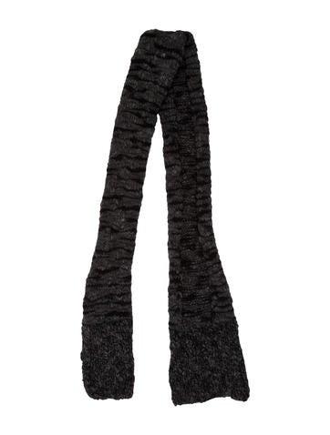 Stella McCartney Wool & Cashmere Rib Knit Scarf None