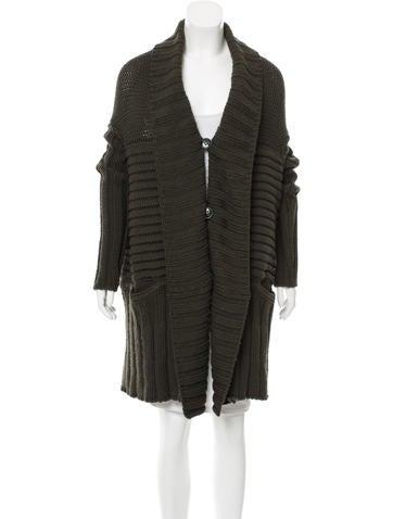 Stella McCartney Oversize Rib Knit Cardigan None