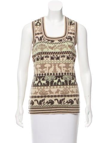 Stella McCartney Wool Patterned Sweater None