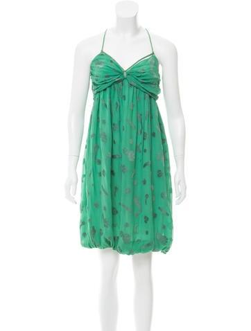 Stella McCartney Sleeveless Textured Dress None