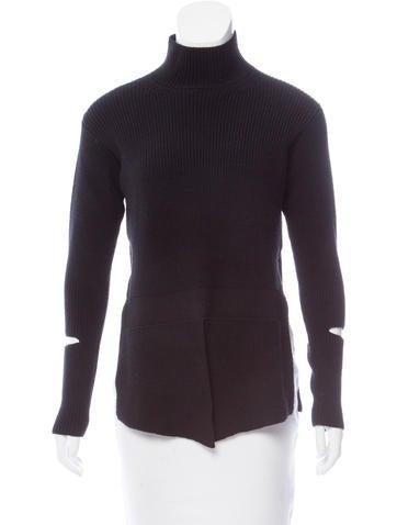 Stella McCartney Rib Knit Turtleneck Sweater None