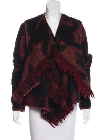 Stella McCartney Wool & Alpaca-Blend Draped Cardigan None