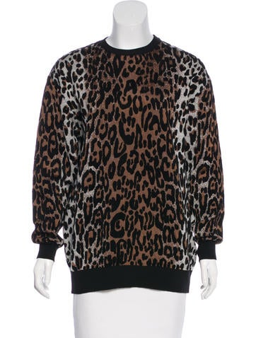 Stella McCartney Leopard Knit Sweater w/ Tags None
