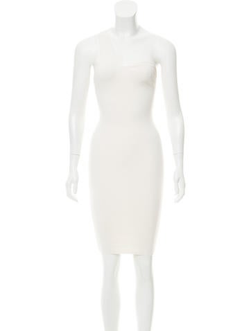 Stella McCartney One-Shoulder Mini Dress None