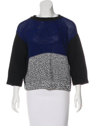 Stella McCartney Knit Color Block Sweater None