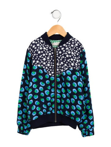 Stella McCartney Girls' Abstract Print Bomber Jacket None