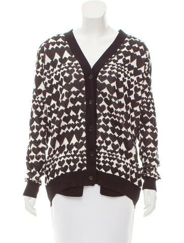 Stella McCartney Patterned Wool-Blend Cardigan None