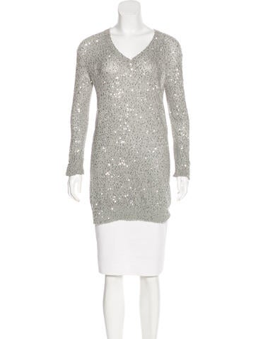 Stella McCartney Sequined V-Neck Sweater None
