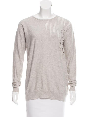 Stella McCartney Distressed Knit Sweater None