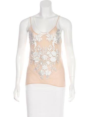 Stella McCartney Embroidered Sleeveless Top None