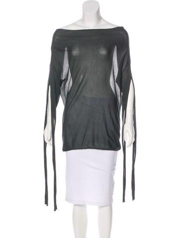 Stella McCartney Silk Knit Top None