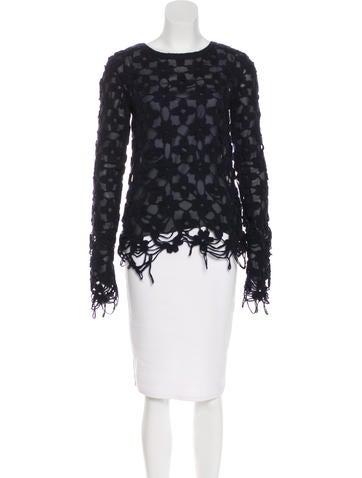 Stella McCartney Crochet Wool-Blend Top None