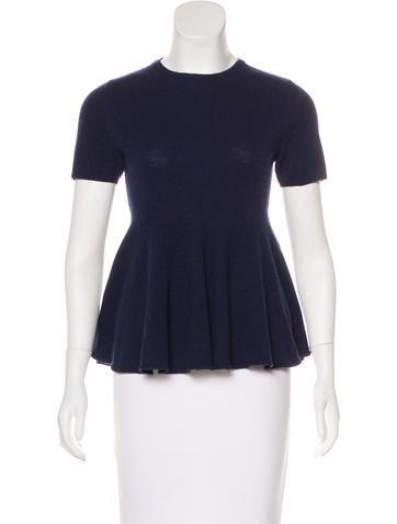 Stella McCartney Short Sleeve Wool Top None