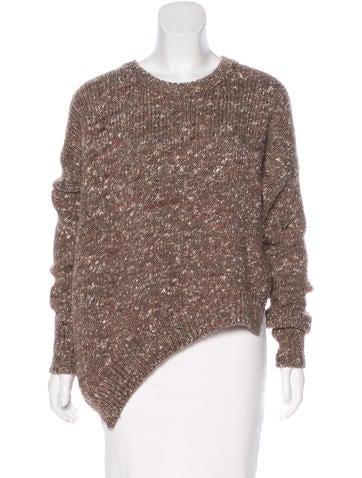 Stella McCartney Asymmetrical Wool Sweater None