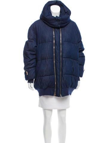 Stella McCartney Fall 2016 Mietta Denim Puffer Coat None