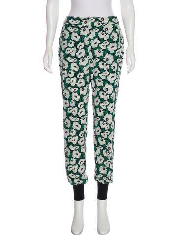 Stella McCartney 2016 Floral Print Jogger Pants None