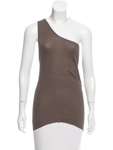 Stella McCartney One-Shoulder Knit Top None