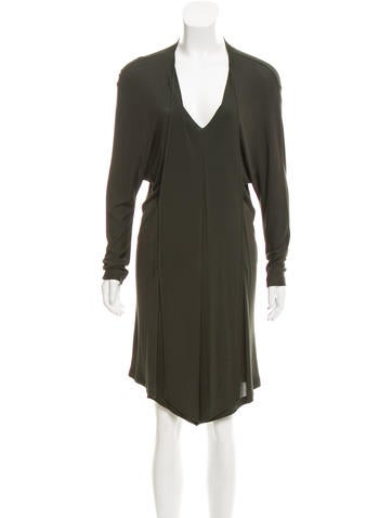 Stella McCartney Long Sleeve Knee-Length Dress None