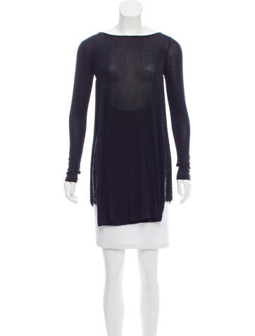 Stella McCartney Fringe-Accented Long Sleeve Top None