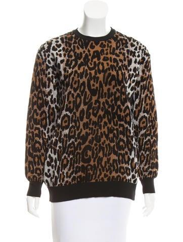 Stella McCartney Leopard Knit Sweater None