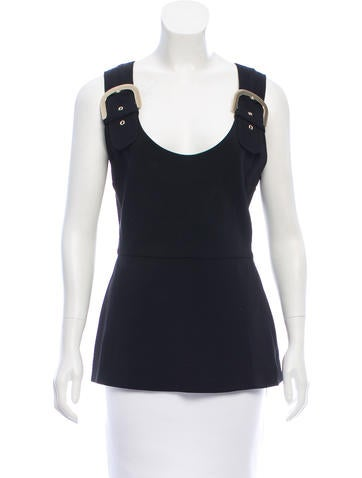 Stella McCartney Sleeveless Buckle-Accented Top w/ Tags None
