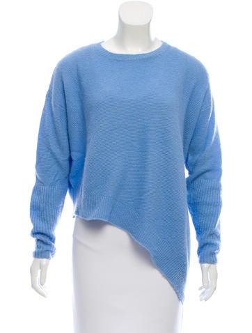 Stella McCartney Cashmere & Silk-Blend Asymmetrical Sweater None