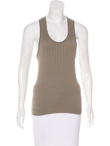 Stella McCartney Cashmere Sleeveless Knit Top None