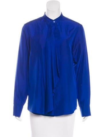 Stella McCartney Silk Draped Blouse None