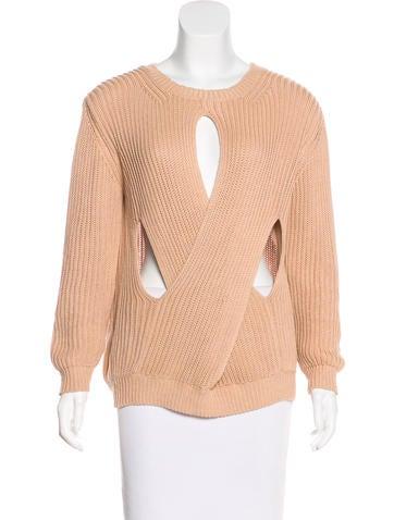 Stella McCartney Cutout Rib Knit Sweater None