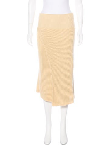 Stella McCartney Rib Knit Midi Skirt None