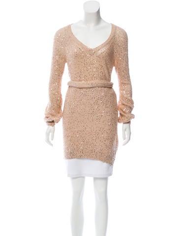Stella McCartney Sequin-Embellished Sweater Tunic None