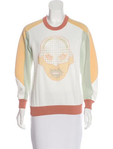Stella McCartney Embroidered Long Sleeve Sweater None