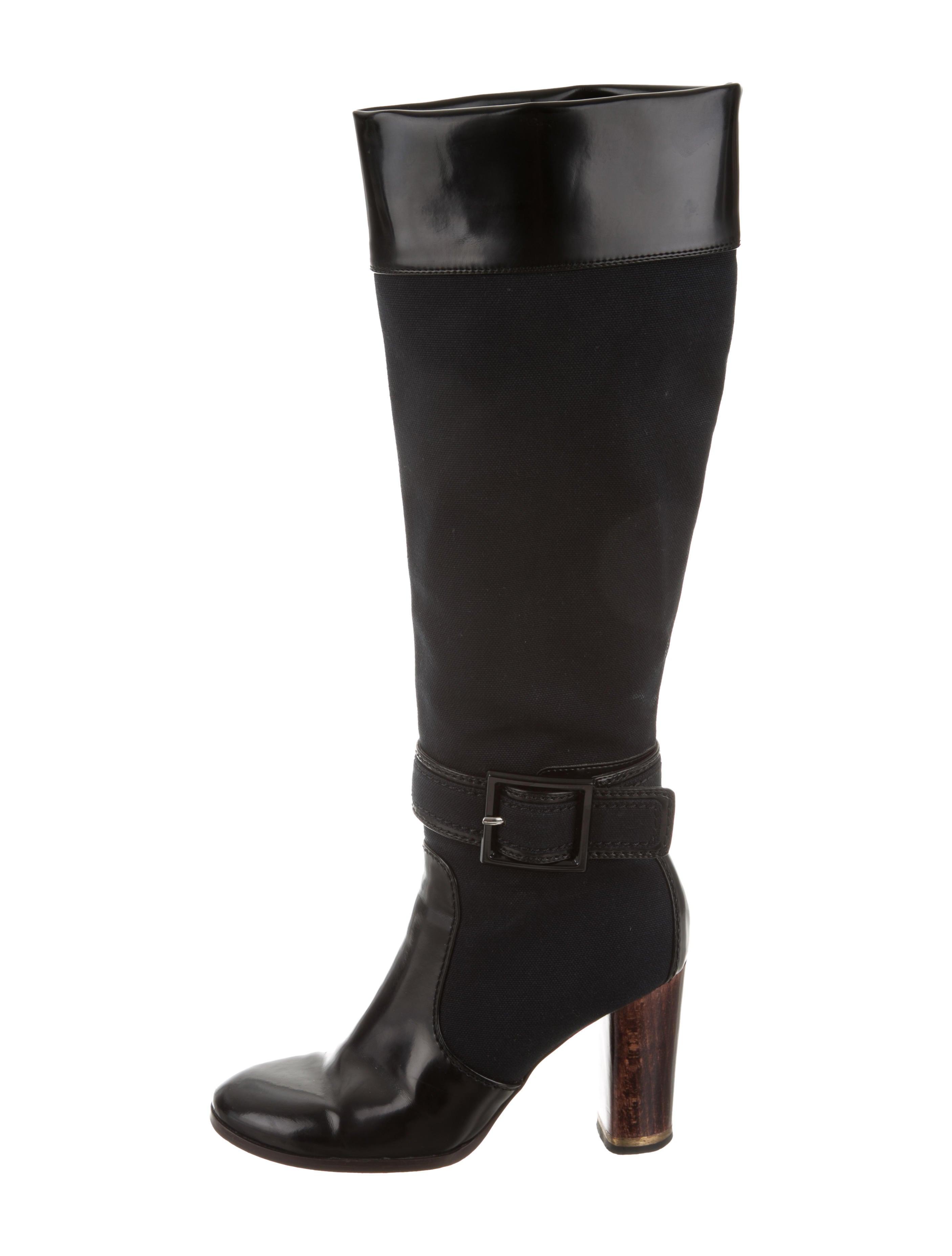 Stella McCartney Vegan Leather-Trimmed Knee-High Boots how much cheap online best wholesale for sale 2014 unisex cheap online brand new unisex cheap price ttKll